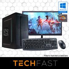 "Ryzen 3 2200G 120GB SSD 8GB DDR4 24"" Computer Desktop PC Bundle"