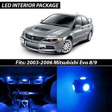 2003-2006 Mitsubishi Lancer Evolution 8 9 Blue Interior LED Lights Package Kit