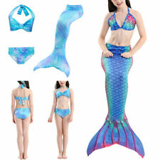 Girl Swimmable Mermaid Tail Bikini Swimwear Bathing Swimsuit Costume Pool Party