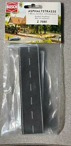 Z scale Busch ASPHALT Country Road with White markings # 7081 New
