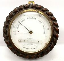 Vintage/Antique? HOLOSTERIC Rope Twist Design SOLID WOOD MOUNTED Barometer - M26