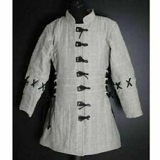 Beautiful Design Medieval Thick Padded White Gambeson Play Theater Custome Sca