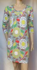 Jerseykleid Boden 38 12 retro Blumen Muster bunt Tunika Shirtkleid hippie 70er