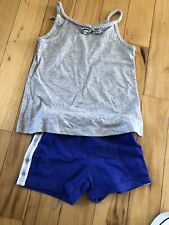 carters girls size 4  Blue And Gray Tank And Shorts outfit