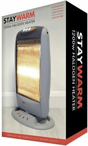 STAYWARM 1200w 3 Bar Compact Halogen Heater with 3 Heat Settings