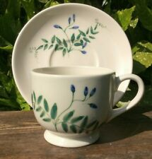 EMMA BRIDGEWATER TUFTED VETCH 1988 HAND PAINTED FOR WATERFIELD CUP AND SAUCER