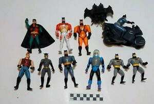 Vintage Batman Animated Series Figure Lot of 7 Kenner 1993 + - played condition