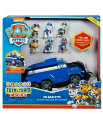 New PAW Patrol, Chase's Total Team Rescue Police Cruiser Vehicle with 6 Pups