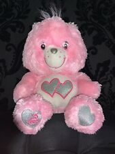 Care Bears 25th Anniversary Pink Love A Lot Bear Swarovski Eyes Plush 12''