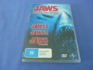Jaws 2 / Jaws 3 / Jaws The Revenge DVD 3 Disc Set Movie Collection R4 TRACKED