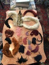 Lot of vintage feathers and accessories with feathers For Clothing & Hats