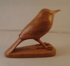 Robin carved out of one piece of Cherry wood
