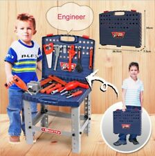 Workbench Kids Childrens Toy Tool Box Kit DIY Work Station Playset Working Drill