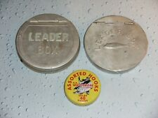 (2) Vintage Fishing Leader Box Tins
