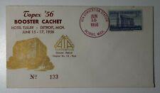 TOPEX Booster Cachet ATA Convention Detroit MI 1956 Philatelic club signed cover