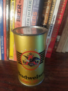 Budweiser Lager 12oz Flat Top Beer Can  Higher Grade! OI IRTP on lower side