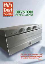 Prueba Bryston bps + 4b SST amplificador-combinación-especial de presión alta fidelidad 2/03
