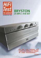 Test Bryston BPS + 4B SST Verstärker-Kombination - Sonderdruck HiFi 2/03