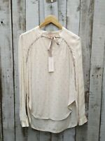 Rebecca Taylor Cream Eyelet Top Size - USA: 4  / Was Selling At NET-A-PORTER