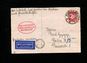 Zeppelin Sieger 85Eva 1930 Russia Flight Russia Post NO RUSSIA ZEP MARKINGS RARE
