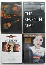 4 DVD Movies BLACK ORPHEUS 1960,Interiors,SEVENTH SEAL 1957,Farewell Concubine
