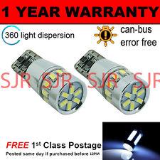 2 x W5W T10 501 CANBUS FEHLERFREI Weiß 18 SMD LED Standlichtleuchten sl103103