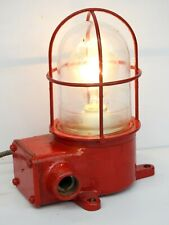 Red Maritime Salvaged Passageway Bulkhead Light Wall Mount Lamp Navigation