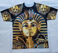 Custom Pharaoh Tutankamun Sublimated Shirt gold egypt black history