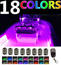 Wireless Control LED Boat Deck Marine Lights Kit Waterproof 8 Pods For Pontoons