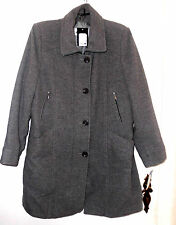 Herluf Design Mantel Jacke grau klassisch NEU Gr. 46 Wolle gefüttert toll