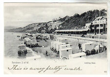 Bathing Machines - Sandown Photo Postcard c1902