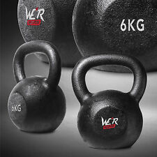 6KG Cast Iron Kettlebell Gym Fitness Exercise Strength Condition Training Tonner