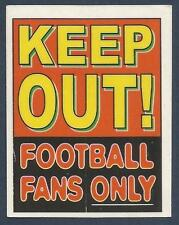 PANINI SUPERPLAYERS 1998 SUBSET-U-KEEP OUT! FOOTBALL FANS ONLY