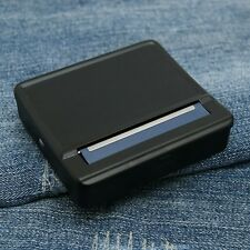 Black 70mm Metal Automatic Cigarette Tobacco Rolling Machine Box