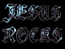 Jesús rocas Hierro en transferencia Rhinestone claro cristal diamante diseño