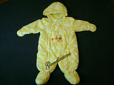 Disney Baby Winnie The POOH Prints Boys Girls Double Zipper Light Coverall Hood