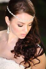 Wedding headpiece headband Rhinestone Headband Wedding Headband Satin ribbon