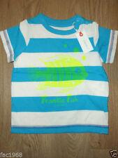 Chemises, débardeurs et t-shirts bleu pour garçon de 0 à 24 mois en 100% coton