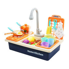 Kinderküche Spielküche Kinder Küche Waschbecken Koch Spielzeugset mit Zubehör