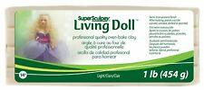 [1kg=29,74€] Super Sculpey Living Doll ofenhärtende Modelliermasse 454g Light