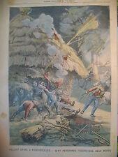 FEUCHEROLLES ORAGE VIOLENT FOUDRE ROI ESPAGNE ALPHONSE LE PETIT PARISIEN 1905