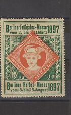 German Poster Stamp Berlin 1897 Train Ship