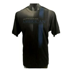 """Men's RANGER UP T shirt size L """"UNAPOLOGETICALLY AMERICAN"""" Black Full Graphics"""
