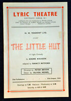 1950 Theatre Programme  THE LITTLE HUT  ROBERT MORLEY GEOFFREY TOONE JOAN TETZEL