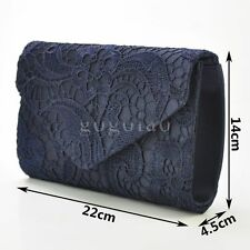 Ladies Lace Envelope Clutch Bag Evening Bag Bridal Wedding Bag Handbag