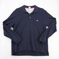 Vtg BROOKS BROTHERS Navy Blue Slim Fit PERFORMANCE POLO Shirt Men's XL