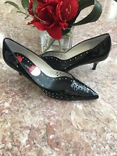 2b78440d4a6 New Enzo Angiolini Women s Classic Black Leather Pointed Toe Pumps Shoes Sz  7 M