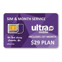 ULTRA MOBILE SIM Card w/ $29 1ST MONTH LOADED PRELOADED FUNDED PREFUNDED
