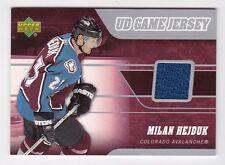 2006-07 NHL Upper Deck Game Jerseys Insert # J-HE Milan Hejduk