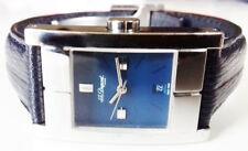 ST DUPONT Paris Women's Quartz Watch. 22x30mm Blue Dial. Date. Water Resistant.
